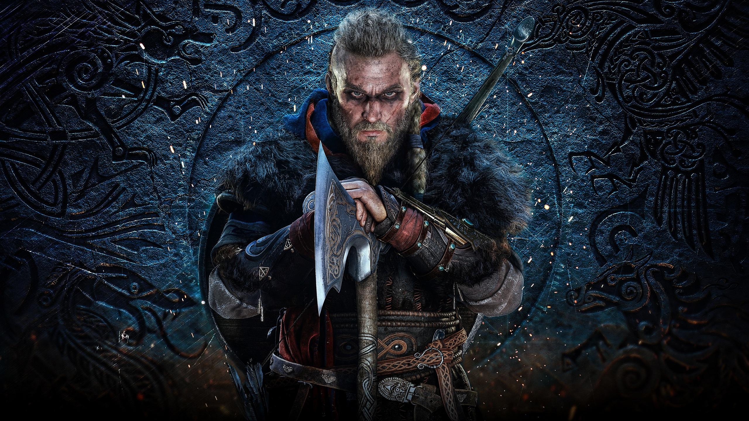 Desktop Wallpapers Assassin S Creed Vikings Battle Axes 2560x1440