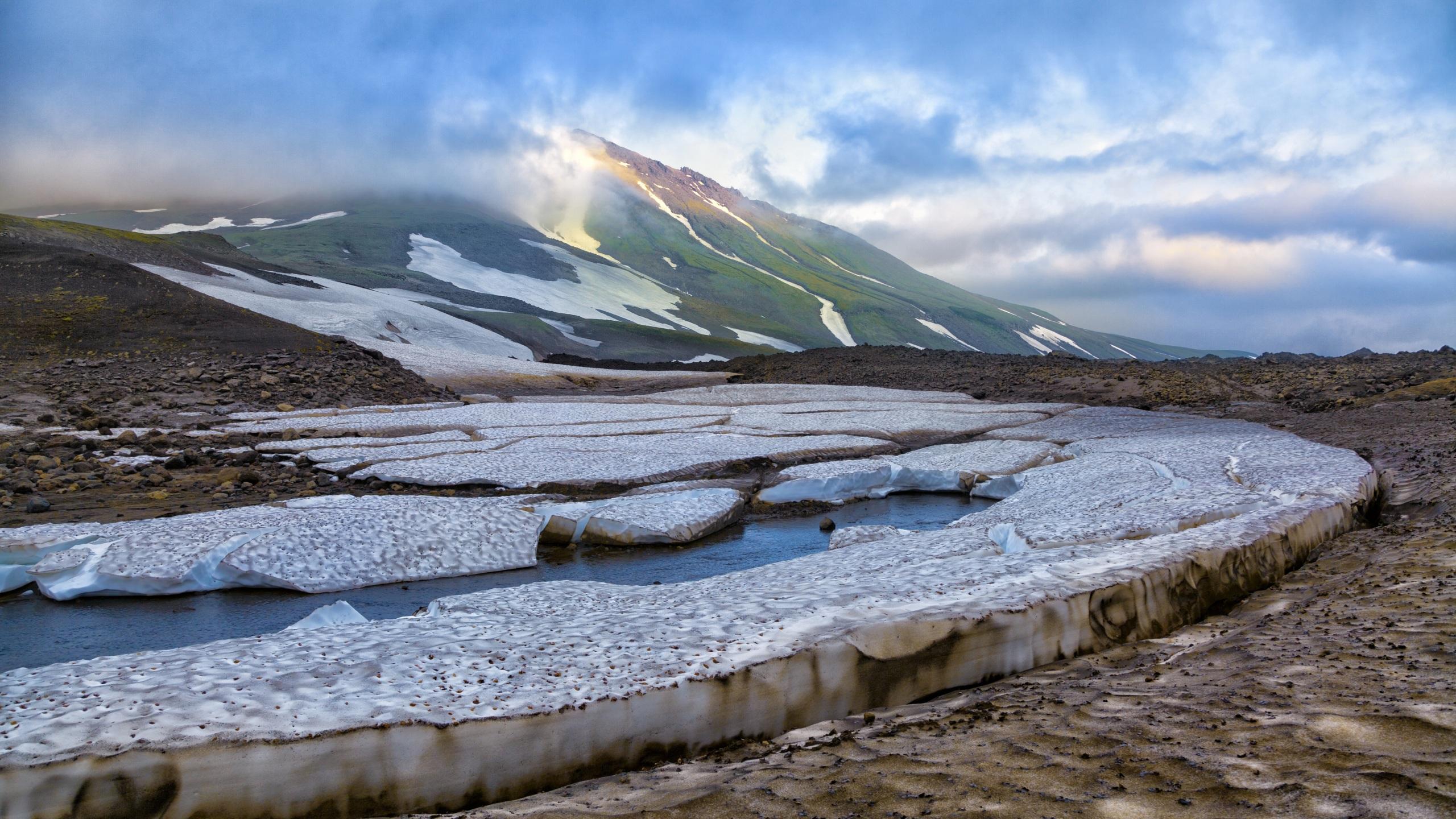 Photos Kamchatka Peninsula Russia Ice Mountains Cities 2560x1440