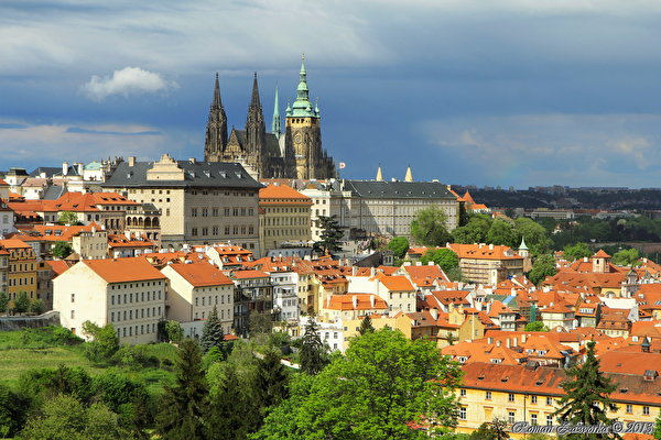 Picture Prague Czech Republic Cities Building 600x400 Houses