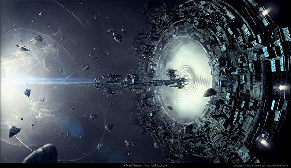 Wallpaper Space Fantasy ship Technics Fantasy 600x346 Ships
