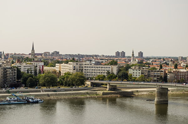 Pictures Serbia Novi Sad bridge Cities Building 600x397 Bridges Houses