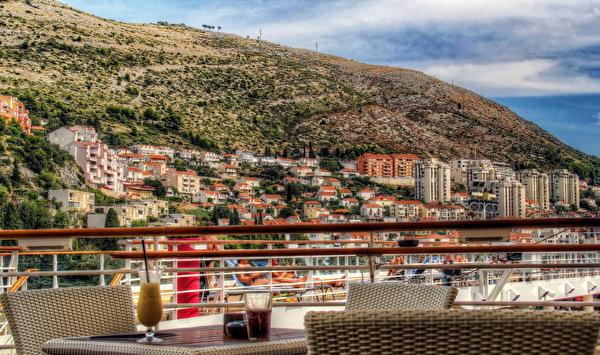 Wallpaper Cities Croatia Dubrovnik Cafe Building 600x355 Houses