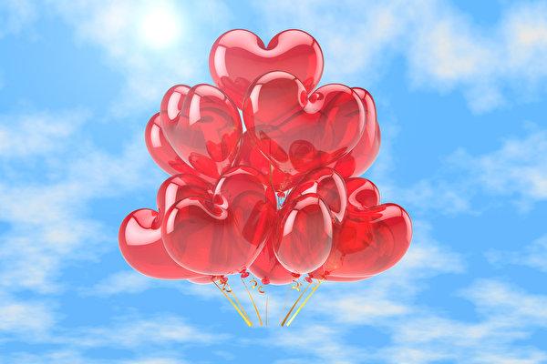 Photo Heart balloons Nature 600x400 Toy balloon