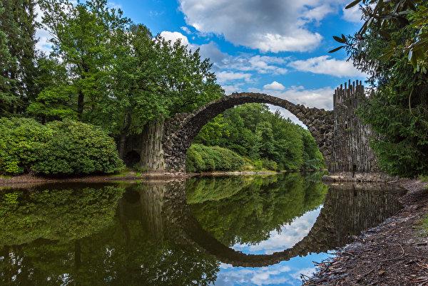 600x402 Alemanha Pontes Rios rio, ponte Naturaleza