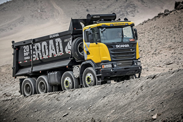 Photo lorry Scania 8x4, G440, 2013 Cars 600x400 Trucks auto automobile
