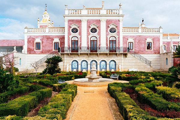 600x400 Portugal Jardíns Fuente Pousada Palacio De Estoi Faro Arbusto Ciudades