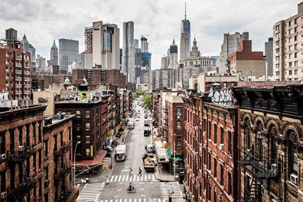 Papel de Parede Desktop Estados Unidos Edifício Arranha-céus Rua Nova Iorque Manhattan
