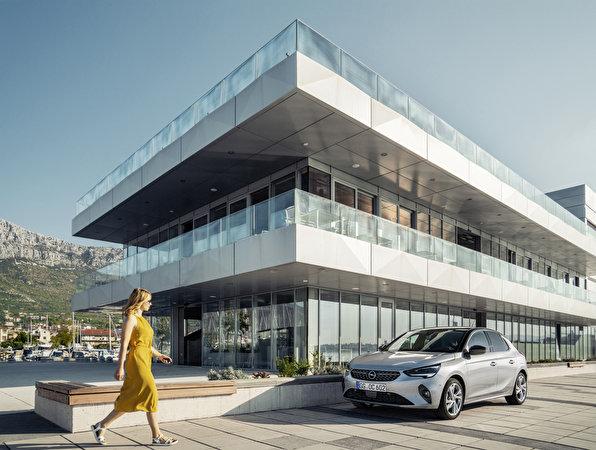 Tapeta Opel 2019-20 Corsa Srebrny kolor Samochody 596x450 samochód