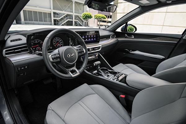 Photo KIA Salons Steering wheel K5 EX North America, 2020 automobile 600x400 Driving wheel Cars auto