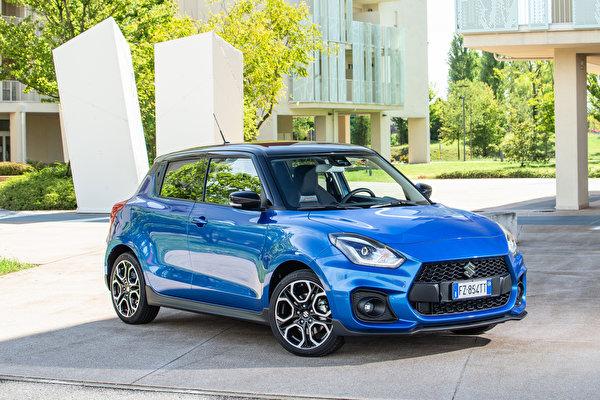 Desktop Wallpapers Suzuki - Cars Swift Sport Hybrid, 2020 Light Blue Cars Metallic 600x400 auto automobile