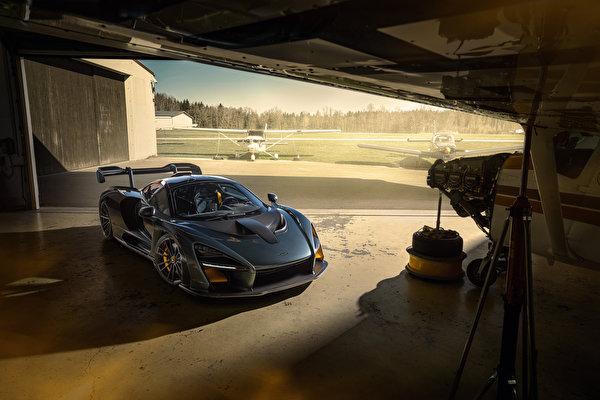 Picture McLaren 2020 Novitec Senna gray Cars 600x400 Grey auto automobile