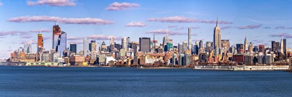 Papel de Parede Desktop EUA Edifício Arranha-céus Panorama Nova Iorque Midtown