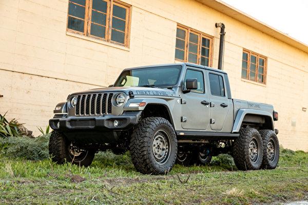600x400,吉普汽車,2021 Next Level Gladiator 6x6,运动型多用途车,灰色,皮卡,SUV,汽车,