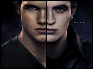 Picture The Twilight Saga Breaking Dawn The Twilight Saga Robert Pattinson Taylor Lautner Men Staring Face Movies Celebrities