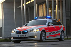Picture BMW Police 2012 5er E61 paramedic vehicle Cars