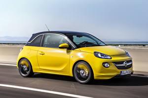 Hintergrundbilder Opel Gelb Seitlich 2013 Adam Slam with OPC Line Pack Autos