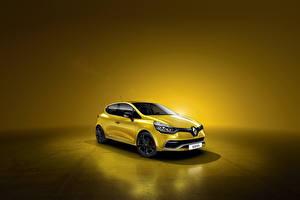 Papel de Parede Desktop Renault Amarelo 2012 Clio RS 200 EDC Carros