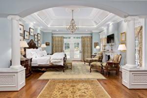 Image Interior Vintage Bed Chandelier Bedroom Ceiling Design