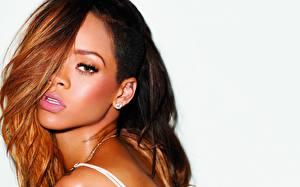 Wallpaper Rihanna Staring Redhead girl Hair Music Girls Celebrities