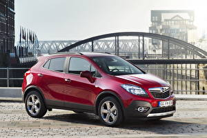 Bilder Opel Bordeauxrot Metallisch Seitlich 2012 Mokka Turbo 4x4 auto