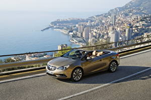 Pictures Vauxhall Convertible From above Asphalt 2013 Cascada Cars Cities