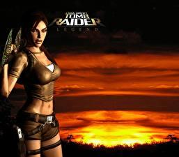 Bilder Tomb Raider Tomb Raider Legend Lara Croft Mädchens 3D-Grafik