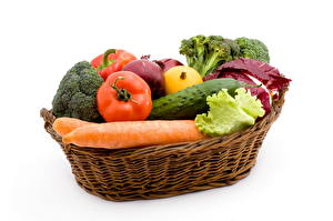 Pictures Vegetables Carrots Wicker basket Food