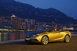 Picture Vauxhall Convertible Night 2013 Cascada automobile Cities