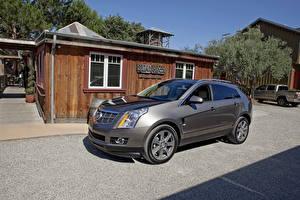 Hintergrundbilder Cadillac Graues 2012 SRX auto