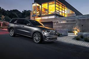 Hintergrundbilder Dodge Grau Seitlich Herrenhaus 2014 Durango automobil