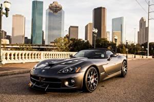 Hintergrundbilder Dodge Asphalt Grau Luxus Viper Conv auto Städte