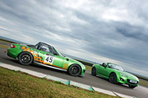 Image Mazda Green Side Clouds 2011 MX-5 sport black automobile