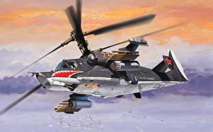 Bilder Hubschrauber Gezeichnet Flug  Luftfahrt