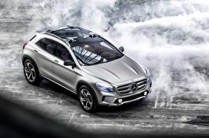 Wallpapers Mercedes-Benz Silver color Smoke 2013 GLA auto