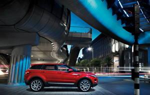 Papel de Parede Desktop Land Rover Vermelho Lateralmente Rua 2010 Range Rover Evoque Carros Cidades
