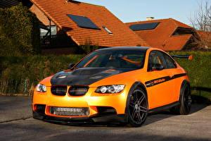 Bureaubladachtergronden BMW Oranje Vooraanzicht 2011 Manhart MH3 V8 RS Clubsport M3 E92 automobiel