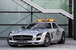 Image Mercedes-Benz Silver color Front 2013 SLS 63 AMG GT F1 Safety Car Cars