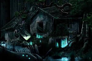 Hintergrundbilder Gotische Gebäude Ruinen Nacht Fantasy