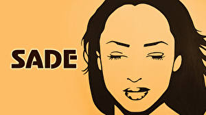 Pictures Vector Graphics Face sade Music Girls