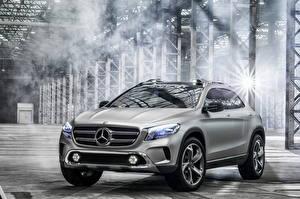 Pictures Mercedes-Benz Silver color Front 2013 GLA automobile