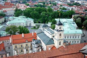 Bilder Litauen Haus Vilnius Von oben