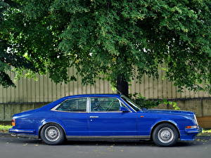 Photo Bentley Blue Expensive Side 1988 Turbo R Empress II Sports Saloon automobile