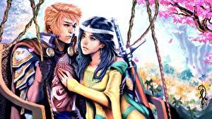 Fonds d'écran Amour Homme Couples dans l'amour Fantasy Filles