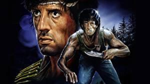 Papel de Parede Desktop Rambo Sylvester Stallone Guerreiro Faca Filme