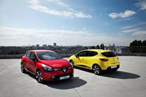 Papel de Parede Desktop Renault Céu Vermelho Amarelo 2012 Clio Carros