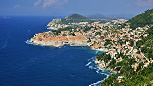 Photo Croatia Coast Sea Dubrovnik From above Cove