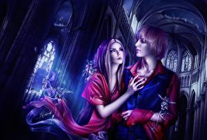 Wallpaper Love Man Couples in love Fantasy Girls
