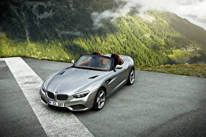 Pictures BMW Mountain Silver color Convertible Roadster 2012 Roadster Zagato automobile