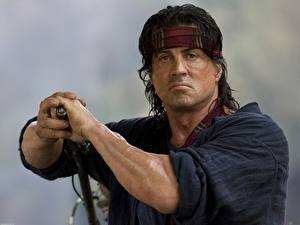Papel de Parede Desktop Rambo Sylvester Stallone Homem Filme Celebridade