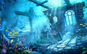 Fotos Trine Unterwasserwelt Ruinen computerspiel